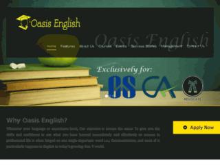 oasisenglish.in screenshot