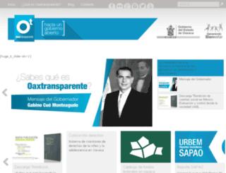 oaxtransparente.gob.mx screenshot