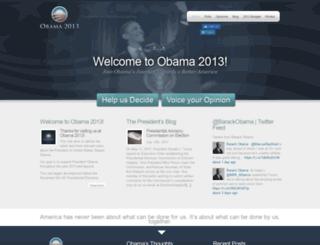 obama2013.com screenshot