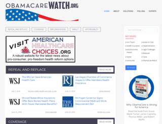 obamacarewatch.org screenshot