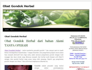 obatgondokdariherbal.wordpress.com screenshot