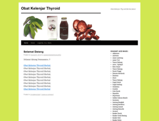 obatkelenjartyroidherbal.wordpress.com screenshot