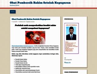 obatpembersihrahimherbal08.wordpress.com screenshot