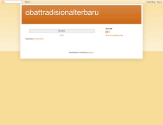 obattradisionalterbaru.blogspot.com screenshot