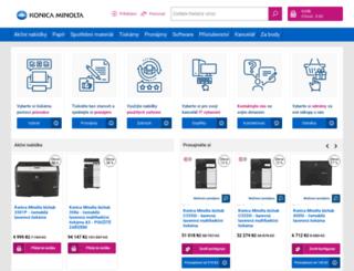 obchod.konicaminolta.cz screenshot