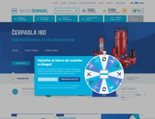 obchodcerpadel.cz screenshot
