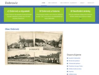 obec-dobroviz.eu screenshot