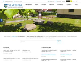 obec-slatina.eu screenshot