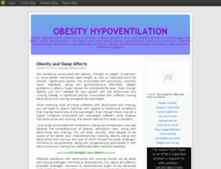 obesityhypoventilation.blog.com screenshot