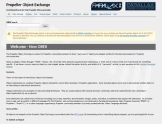 obex.parallax.com screenshot