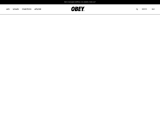 obeyclothing.co.uk screenshot