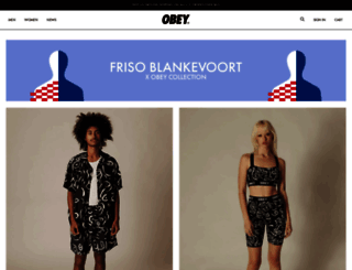 obeyclothing.com screenshot