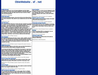 obiewebsite.sourceforge.net screenshot