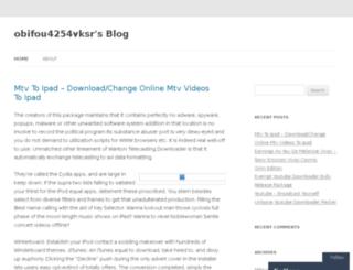 obifou4254vksr.wordpress.com screenshot