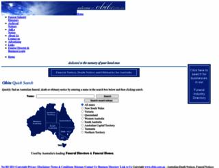 obits.com.au screenshot
