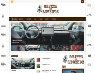 objets-de-legende.fr screenshot