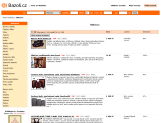 obleceni.bazos.cz screenshot