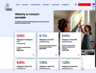 obligacjeskarbowe.pl screenshot