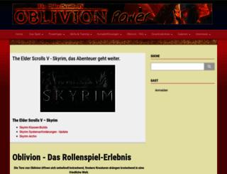 oblivion-power.de screenshot