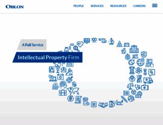 oblon.com screenshot
