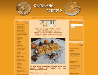 oblubenerecepty.sk screenshot