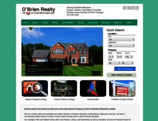 obrienrealty.businesscatalyst.com screenshot