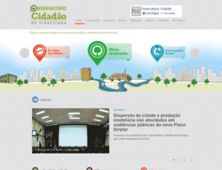 observatoriopiracicaba.org.br screenshot