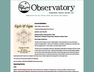 observatoryroom.org screenshot