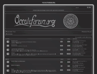 occultforum.org screenshot