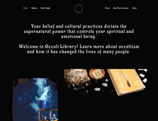 occultlibrary.info screenshot