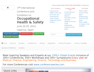occupationalhealth2014.conferenceseries.net screenshot