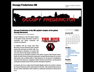 occupyfredericton.wordpress.com screenshot
