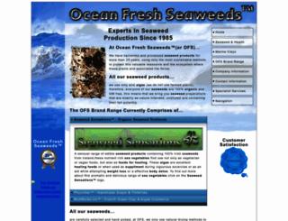 ocean-fresh-seaweeds.com screenshot