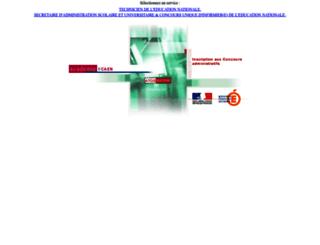ocean.ac-caen.fr screenshot