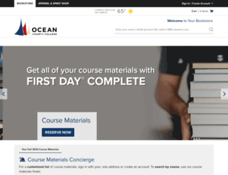 ocean.bncollege.com screenshot