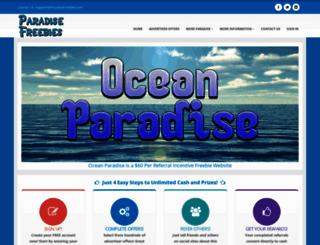 ocean.paradisefreebies.com screenshot
