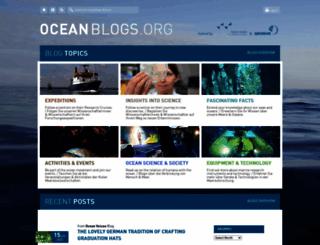 oceanblogs.org screenshot
