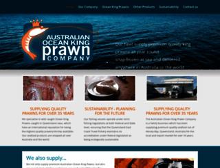 oceankingprawns.com.au screenshot