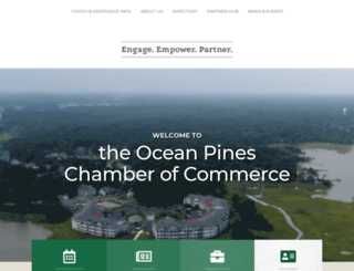 oceanpineschamber.org screenshot