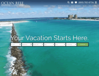 oceanreefresorts.com screenshot