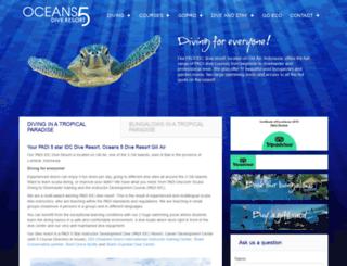 oceans5dive.com screenshot