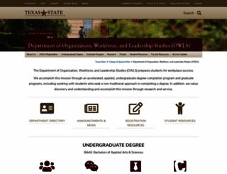 oced.txstate.edu screenshot