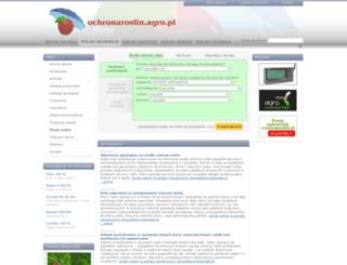 ochronaroslin.agro.pl screenshot