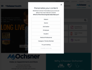 ochsner.org screenshot