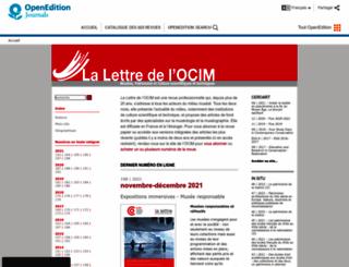 ocim.revues.org screenshot