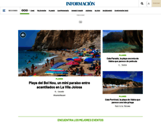 ocio.diarioinformacion.com screenshot