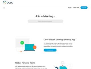 oclc.webex.com screenshot