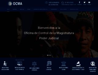 ocma.pj.gob.pe screenshot