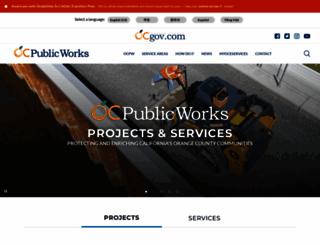 ocpublicworks.com screenshot