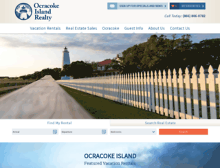 ocracokeislandrealty.com screenshot